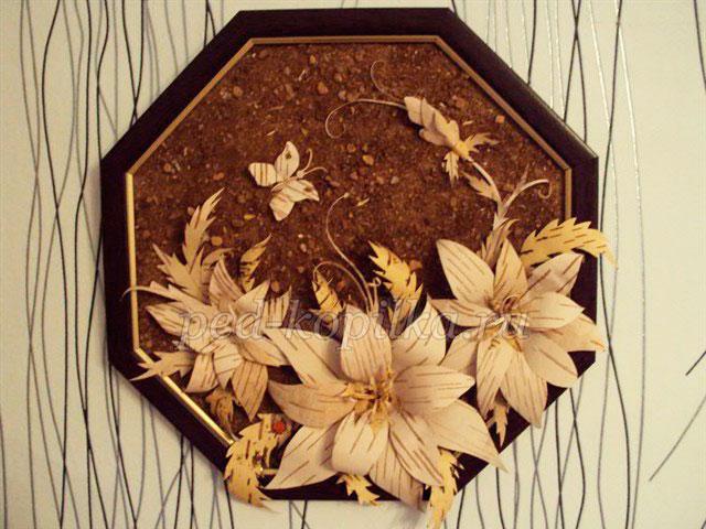 Цветы из бересты своими руками - Поделки