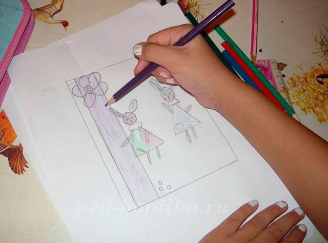 Открытки для мамы своими руками карандашами, маме марта