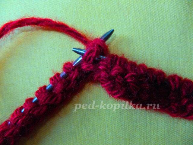 вязание тапочек спицами для начинающих