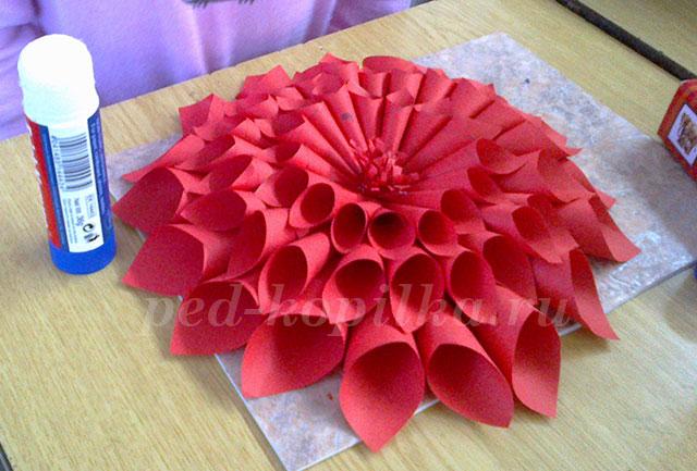 Объёмные цветы из бумаги своими руками пошаговая