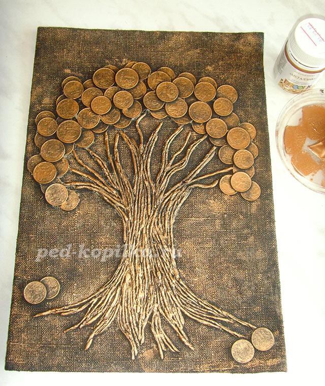 Денежное дерево поделка своими руками