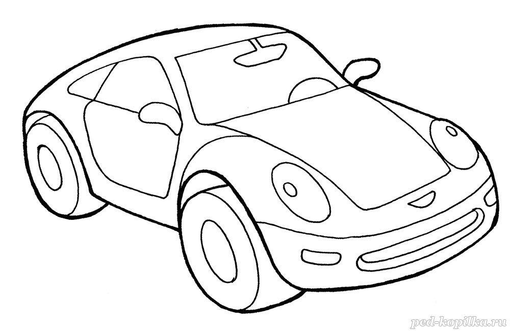 раскраска для детей спортивный автомобиль