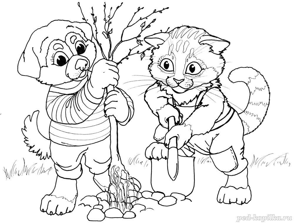 раскраска для детей на тему весна