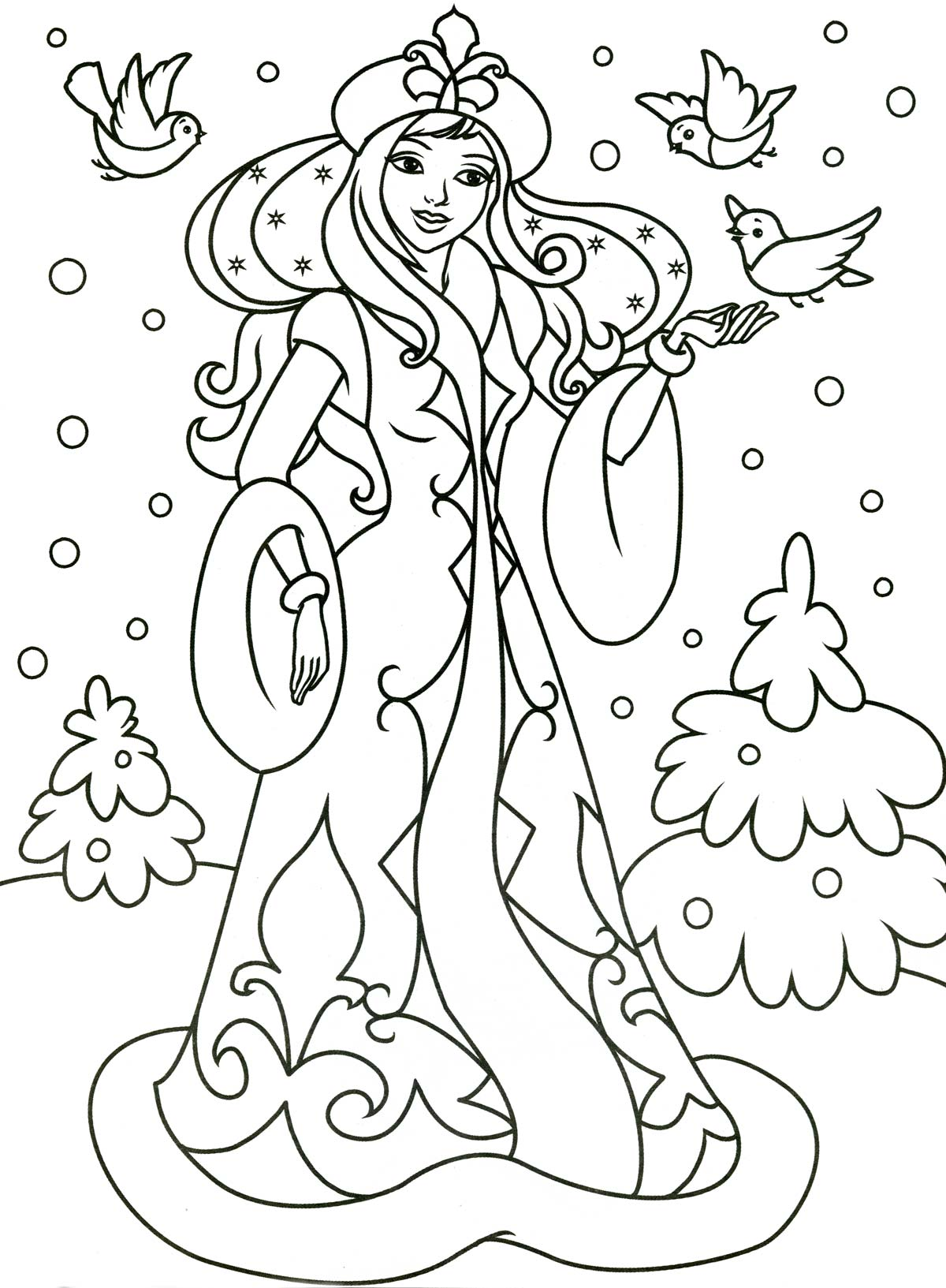 раскраска по теме зима
