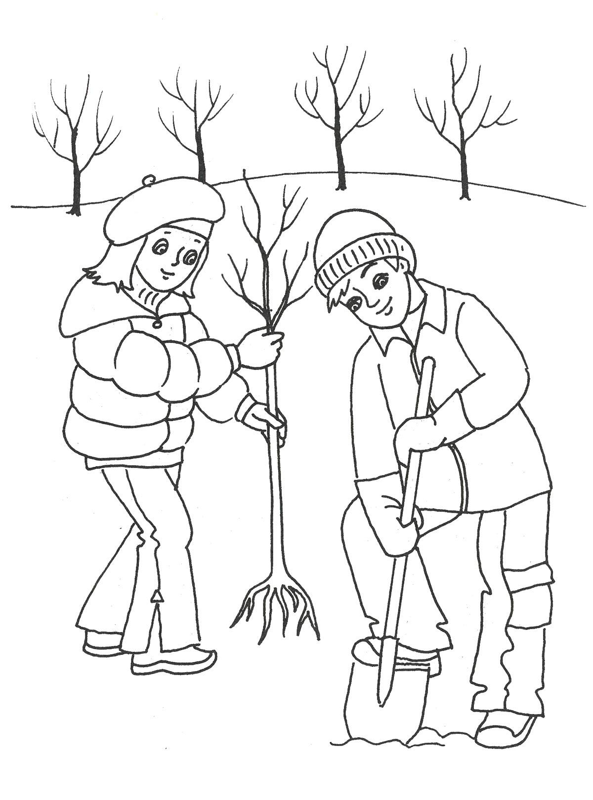 Раскраска весны для детского сада