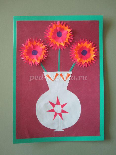 14185_352f206a6e248000d97c0df01ced4795.jpg Аппликация. Цветы в вазе из цветной бумаги для старшей группы
