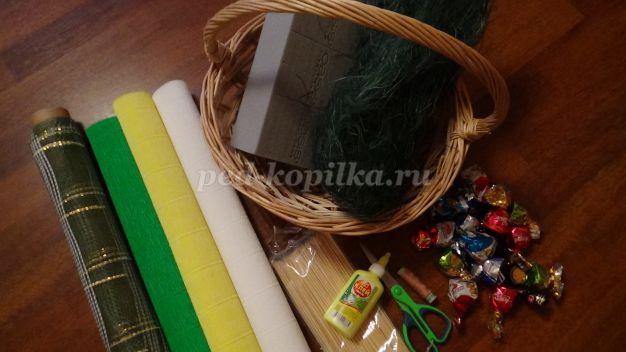 19495_829530ecadd9bd04588d4ae9a76bc65c.jpg Тюльпаны из конфет и гофрированной бумаги. Тюльпаны из конфет: мастер-класс