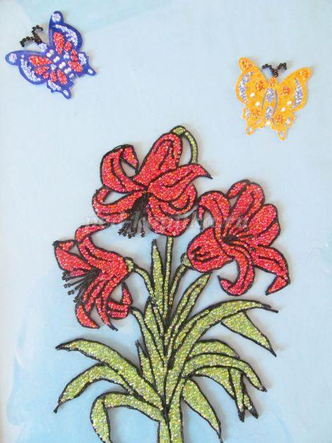 Рисунок из бисера на бумаге
