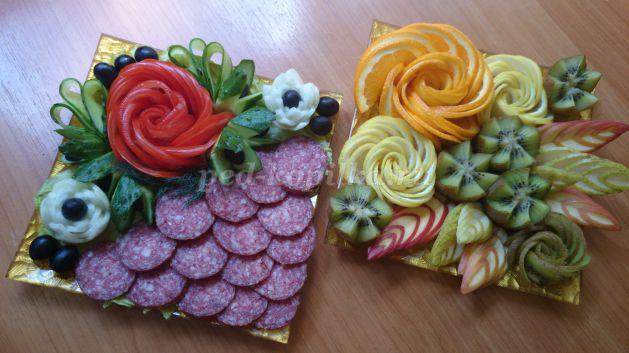Как красиво украсить овощи