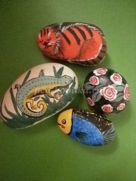 Рисунки на камнях акриловыми красками для начинающих
