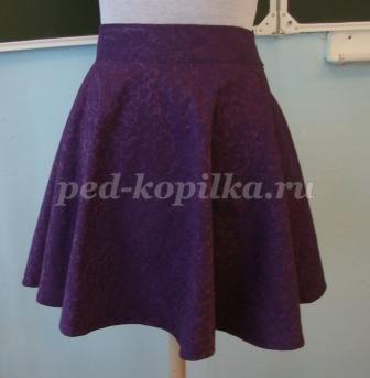 Пошив школьной юбки