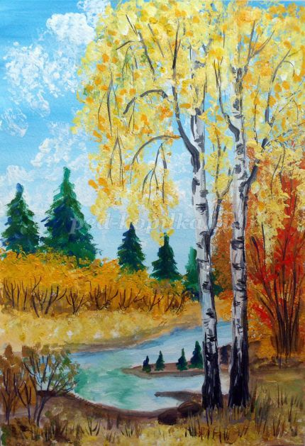 32001_eea9ba8b87c34d77cf28aa89bbf3d669.jpg Осенний пейзаж гуашью поэтапно с фото. Мастер-класс