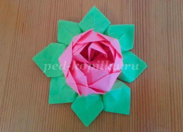 e60e6b3f485bd3c556d4ba36f00861fc.jpg Лотос из бумаги в технике оригами своими руками