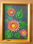 Пластилинография на стекле «Цветы». Мастер-класс с фото для детей 5-6 лет