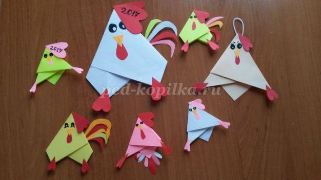 15862_16cae387416003ccbab3c14efee5e17b.jpg Петух оригами в модульной и классической сборках