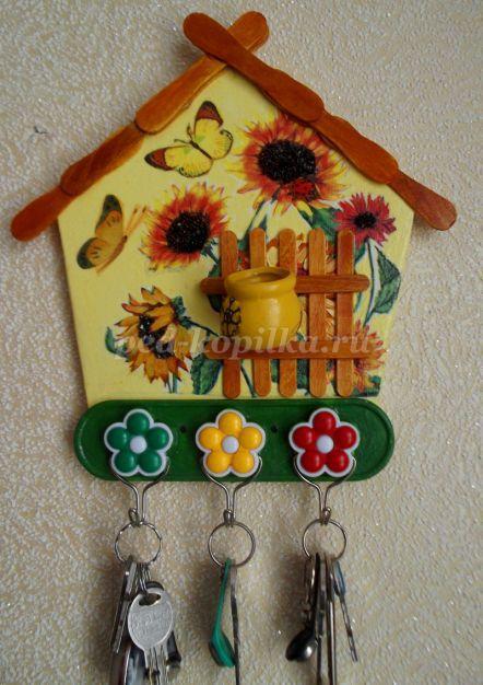 Делаем ключницу своими руками: варианты изготовления, фото идеи | 626x442