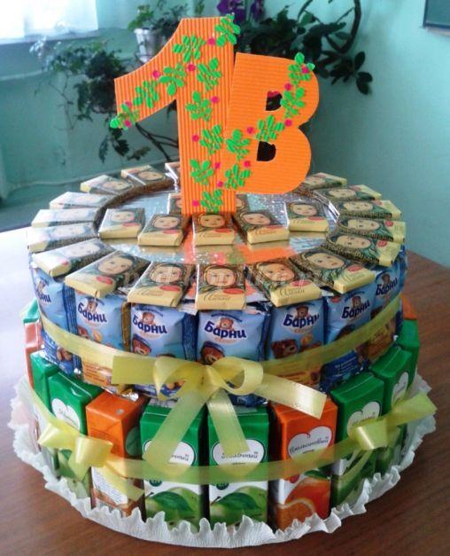 19825_521bade2f89c99b72e2fa67b30806f94.jpg Как сделать детский торт из конфет для мальчика и девочки в детский сад и на День Рождения? Торт на свадьбу из конфет своими руками