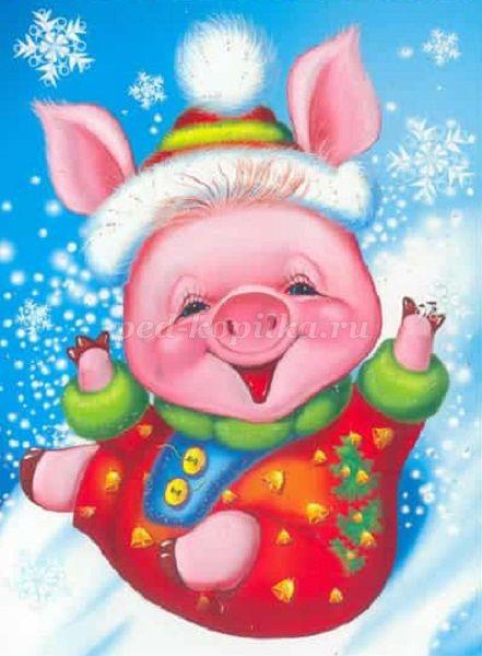 Смешные сценки на новый год свиньи